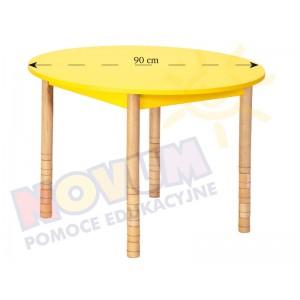 Kolorowy stół z dokrętkami - Okrągły 100