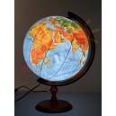 Globus śr.320 fizyczny podświetlany drewniany niski