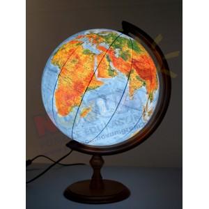 Globus fizyczny śr.32 cm podświetlany