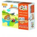 Alfabet zwierząt - puzzle polsko-angielskie