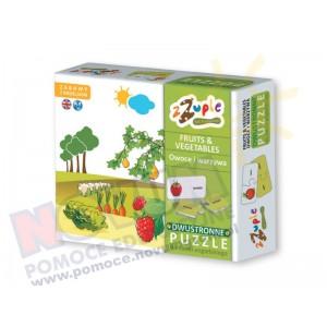 Owoce i warzywa - puzzle polsko-angielskie