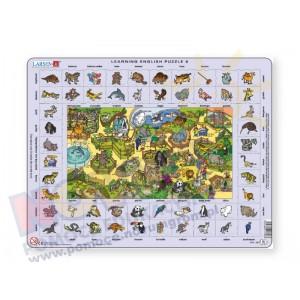 Puzzle do nauki angielskiego - zwierzęta w Zoo