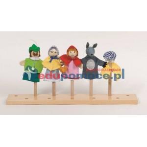 Czerwony Kapturek - postacie z bajki - pacynki na palce