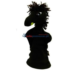Czarny koń - pacynka