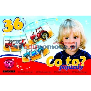 Co to? Pojazdy - Puzzle
