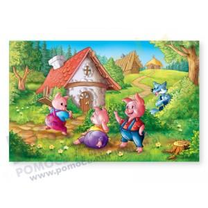Trzy świnki - puzzle