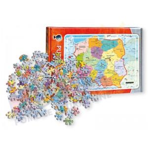 Mapa administracyjna Polski - puzzle