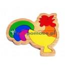 Kogut - puzzle drewniane