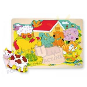 Wesołe zwierzaki domowe - puzzle