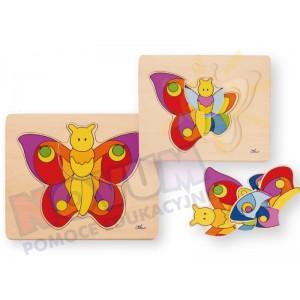 Motylek - puzzle drewniane czterowarstwowe