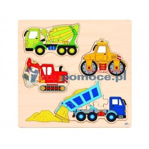 Pojazdy budowlane - puzzle