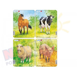Zwierzęta hodowlane - mini puzzle