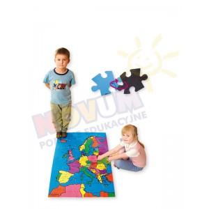 Mapa Europy - puzzle