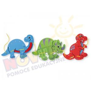 Piankowe dinozaury do przewlekania