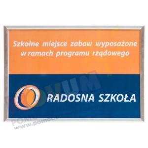 Tablica informacyjna - Radosna szkoła