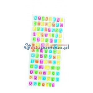 Naklejki wytłaczane litery