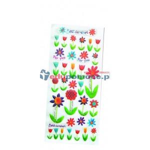 Kwiatuszki - Naklejki wytłaczane Całoroczne