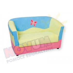 Minikomplet wypoczynkowy MOTYLEK - kanapa podwójna