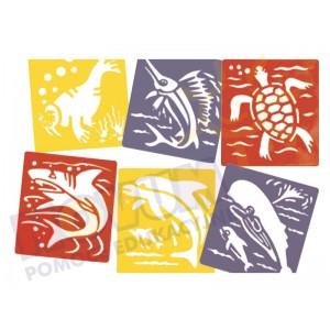 Zwierzęta morskie - szablony
