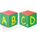 Kostki piankowe Alfabet - A,B,C,D