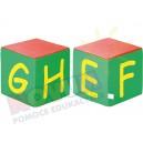 Kostki piankowe Alfabet - E,F,G,H