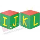 Kostki piankowe Alfabet - I,J,K,L