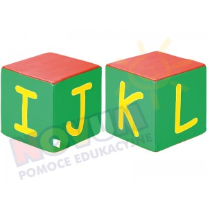 Kostki piankowe Alfabet - IJKL