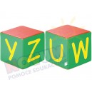 Kostki piankowe Alfabet - U,W,Y,Z