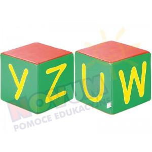 Kostki piankowe Alfabet - UWYZ