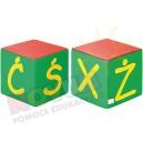 Kostki piankowe Alfabet - X,Ż,Ś,Ć