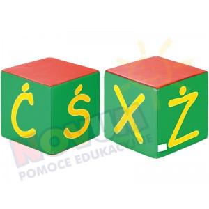 Kostki piankowe Alfabet - XŻŚĆ