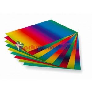 Papier  transparentny - tęczowy