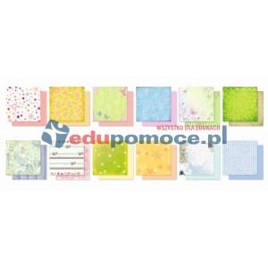 Kwiaty - zestaw kolorowego papieru