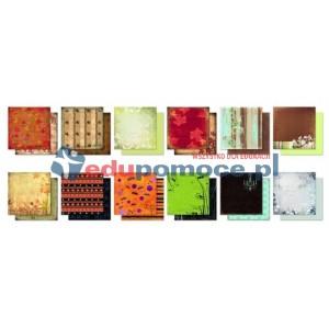 Jesień - zestaw kolorowego papieru