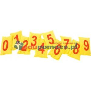 Woreczki z grochem Liczby - żółte