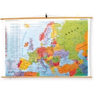 Europa – jednostronna mapa  polityczna