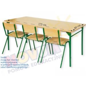 Stół 3-osobowy z okrągłymi nogami typu LT3 wysokość 76 cm