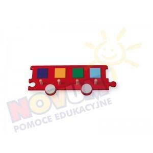 Wieszak - wagon czerwony