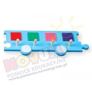Wieszak - wagon niebieski