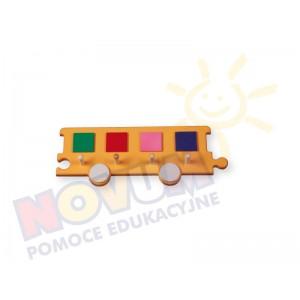 Wieszak - wagon pomarańczowy