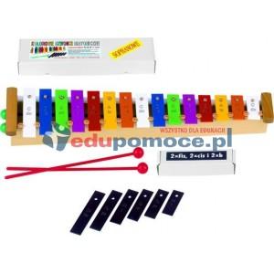Kolorowe dzwonki diatoniczne 15 - tonowe sopranowe