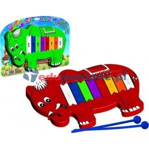 Muzykalny słoń - dzwonki diatoniczne 8 - tonowe