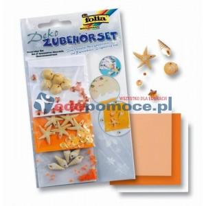 Pomarańczowe muszle - materiały dekoracyjne