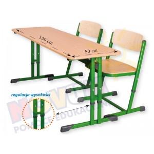 Stolik regulowany typu C wysokość od 53 do 64 cm