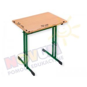 Stolik pojedynczy regulowany typu C wysokość od 64 do 76 cm
