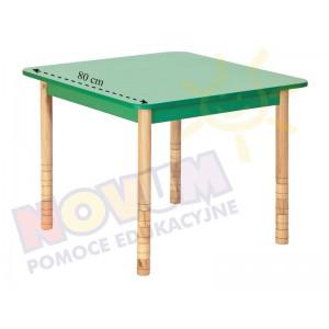 Stół kolorowy kwadratowy z dokrętkami prostymi