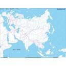 Azja - mapa konturowa