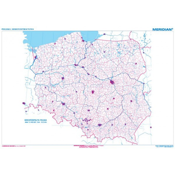 Mapa Konturowa Polski