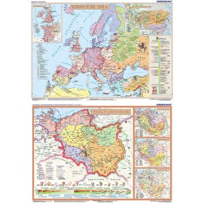 DUO Rozbicie dzielnicowe Polski / Europa XII-XIII w - tablica ścienna