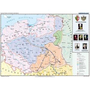 Księstwo Warszawskie w latach 1807-1815 - tablica ścienna